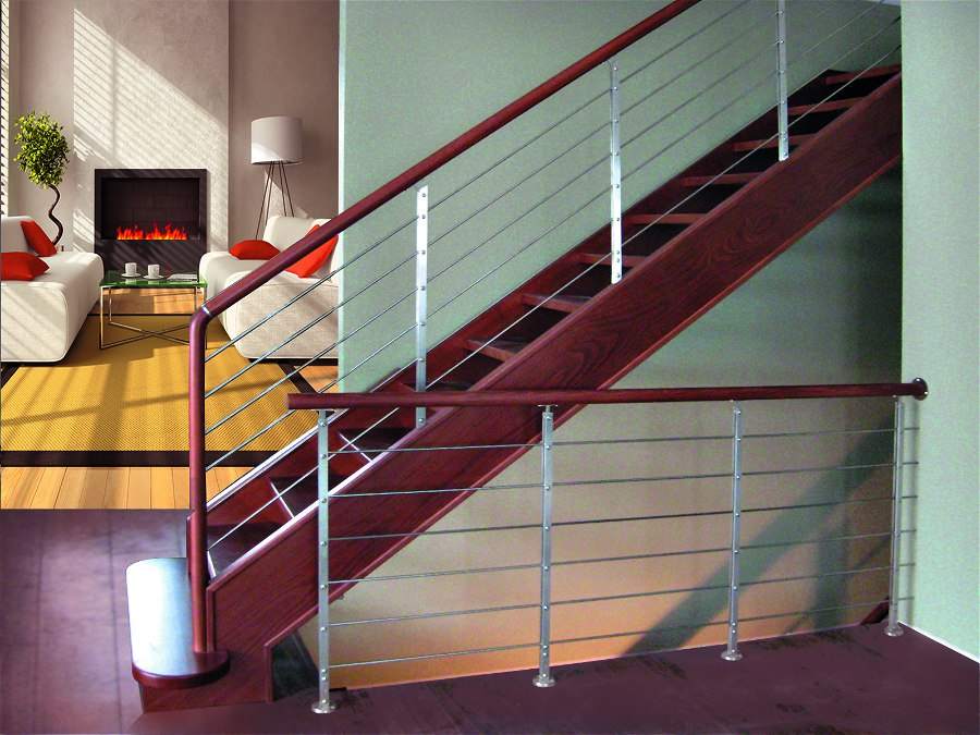 Scale interne in legno scale a giorno lineascale - Scale interne in ferro ...