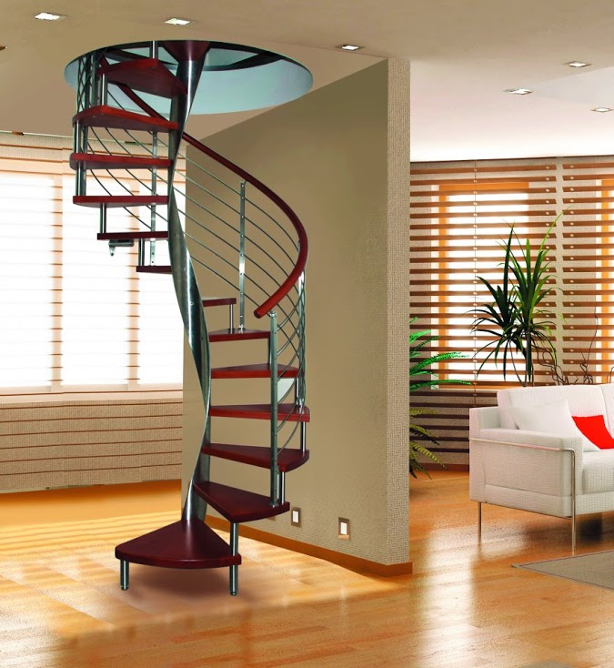 Scale elicoidali da interni in legno mod zaffiro for Scale elicoidali