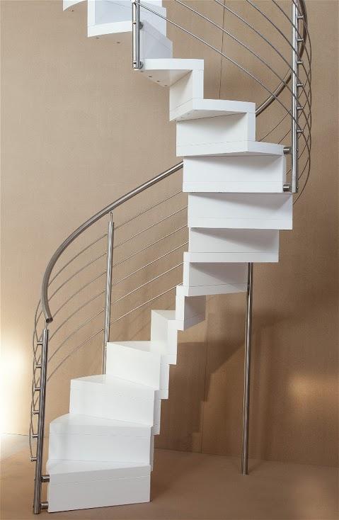 Scale elicoidali per interni in legno o ferro lineascale - Scale classiche per interni ...