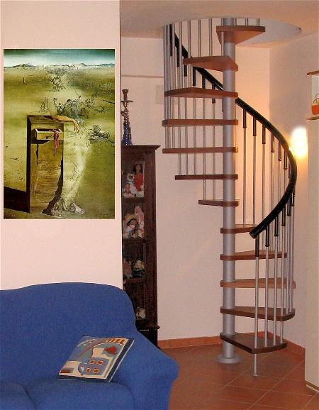 Scale soppalco piccoli spazi chiocciola legno metallo pvc - Scale interne piccoli spazi ...